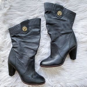 Marc by Marc Jacobs Leather Slouchy Heeled Boots 8